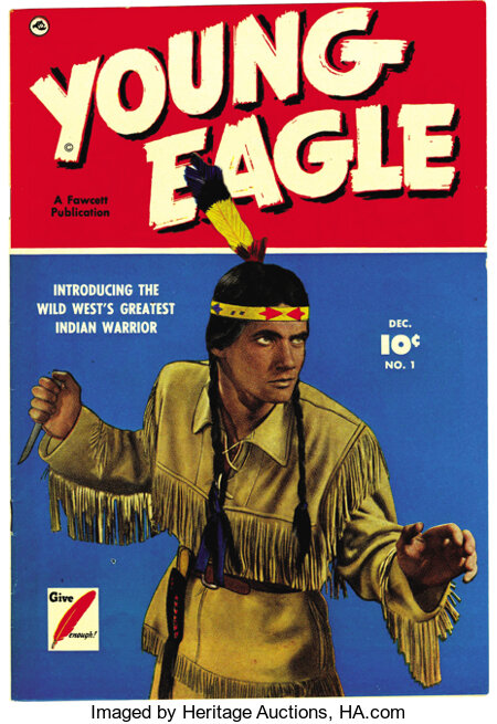 Young Eagle #1 Mile High pedigree (Fawcett, 1950) Condition: NM-. Photo cover. Overstreet 2006 NM- 9.2 value = $210.From t...