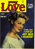 """Golden Age (1938-1955):Romance, Young Love #3 Mile High pedigree (Prize, 1949) Condition: NM+.Gosh, """"high-grade romance"""" is usually thought of as the bigge..."""