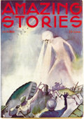 Pulps:Science Fiction, Amazing Stories Group (Teck, 1933-37) Condition: Average FN. Thisgroup includes 35 issues; dated October 1933 through Decem...(Total: 35 Items)