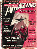 Pulps:Science Fiction, Amazing Stories Quarterly Group (Gernsback/Ziff-Davis, 1928-49).This lot consists of five early bedsheet-format issues, and...(Total: 14 Items)