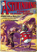 "Pulps:Science Fiction, Astounding Stories Jan 1930 (Street & Smith, 1930) Condition:VG. The first issue of this seminal pulp. Memorable ""beetle ar..."