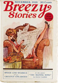 Pulps:Romance, Breezy Stories Group (Young, 1928-48) Condition: Average FN-. Remarkably nice condition and a few Enoch Bolles covers (on la... (Total: 43 Items)