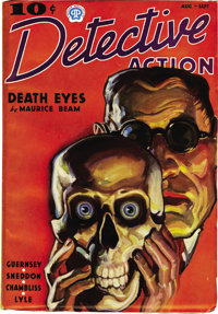 Detective Action Stories Group (Popular, 1937) Condition: Average FN-. Cover art in the style of J. C. Leyendecker is on...