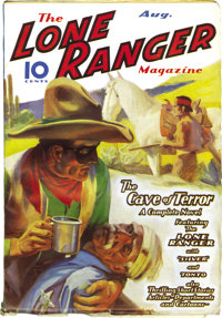 The Lone Ranger Magazine Group (Trojan Publishing, 1937). Hi-Yo Silver! Here's a nice three-issue lot with two extremely...