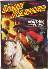 The Lone Ranger Magazine Group (Trojan Publishing, 1937) Condition: Average FN+. The last pulp appearance of the Lone Ra...
