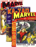 Pulps:Science Fiction, Marvel Science Stories/Ka-Zar Group (Red Circle, 1936). This group of Marvel-related pulps consists of Ka-Zar October 19... (Total: 4 Items)