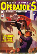 Pulps:Detective, Operator #5 Group (Popular, 1934-36). This lot consists of three issues starring America's undercover ace, secret service Op... (Total: 3 Items)