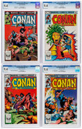Bronze Age (1970-1979):Adventure, Conan the Barbarian CGC-Graded Group of 4 (Marvel, 1982-83).... (Total: 4 )