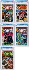 Bronze Age (1970-1979):Adventure, Conan the Barbarian #94-96, 98 and 99 CGC-Graded Group of 5 (Marvel, 1979). CGC NM/MT 9.8. ... (Total: 5 )