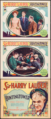 """Huntingtower (Paramount, 1928). Title Lobby Card & Lobby Cards (2) (11"""" X 14""""). Action. ... (Total: 3 Item..."""