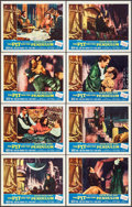 """Movie Posters:Horror, The Pit and the Pendulum (American International, 1961). Lobby CardSet of 8, 1 Autographed (11"""" X 14"""") Reynold Brown Artwor... (Total:8 Items)"""