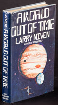 "Movie Posters:Science Fiction, World Out of Time by Larry Niven & Others Lot (Holt, Rinehart & Winston, 1976). Autographed Hardcover Book (243 Pages, 6"" X ... (Total: 3 Items)"