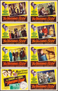 """Movie Posters:Horror, The Black Cat (Realart, R-1953). Lobby Card Set of 8, TwoAutographed (11"""" X 14""""). Reissue Title: The Vanishing Body.Ho... (Total: 8 Items)"""