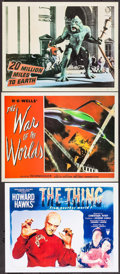 "Movie Posters:Science Fiction, The War of the Worlds & Others Lot (Paramount, 1953).Reproduction ""Ninth Card"" Lobby Cards (3) (11"" X 14.25"" & 11"" X13.75""... (Total: 3 Items)"