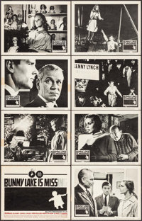 "Bunny Lake is Missing (Columbia, 1965). Very Fine-. Lobby Card Set of 8 (11"" X 14""). Saul Bass Title Card Artw..."