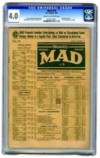 MAD #19 (EC, 1955) CGC VG 4.0 CREAM TO OFF-WHITE pages