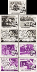 """Movie Posters:Serial, Radar Patrol vs. Spy King (Republic, 1949). Lobby Card Sets of 4 (2 Sets) & Title Lobby Card (11"""" X 14"""") Chapters 7, 10 & 11... (Total: 9 Items)"""
