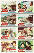 """Movie Posters:Western, Raiders of Old California & Other Lot (Republic, 1957). Lobby Card Set of 8 (11"""" X 14"""") & One Sheet (27"""" X 41""""). Western.. ... (Total: 9 Items)"""