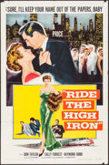 "Movie Posters:Drama, Ride the High Iron (Columbia, 1956). Folded, Overall: Fine/VeryFine. One Sheet (27"" X 41"") & Lobby Card Set of 8 (11"" X 14""...(Total: 9 Items)"