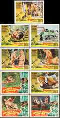 "Movie Posters:Adventure, Tarzan's Magic Fountain & Others Lot (RKO, 1949). Lobby Cards (15) (11"" X 14""). Adventure.. ... (Total: 15 Items)"