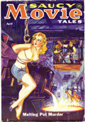 Pulps:Romance, Saucy Movie Tales April 1936 (Movie Digest, 1936) Condition: VG/FN. A rare issue, it features a classic bondage cover painte...