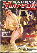 "Pulps:Romance, Saucy Movie Tales Dec 1936 (Movie Digest, 1936) Condition: VG/FN. A classic bare-breasted pulp cover, painted by Norman ""Bla..."