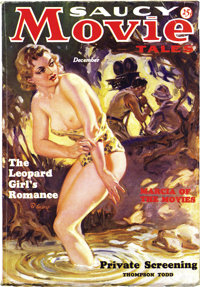Saucy Movie Tales Dec 1936 (Movie Digest, 1936) Condition: VG/FN. A classic bare-breasted pulp cover, painted by Norman...