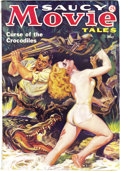 Pulps:Romance, Saucy Movie Tales May 1936 (Movie Digest, 1936) Condition: FN+. A rare pulp, with deliciously off-beat and sexy cover art. T...