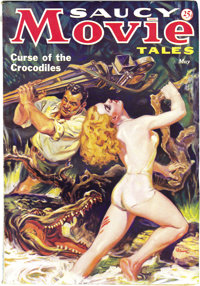 Saucy Movie Tales May 1936 (Movie Digest, 1936) Condition: FN+. A rare pulp, with deliciously off-beat and sexy cover ar...