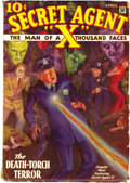 Pulps:Hero, Secret Agent X Group (Ace, 1934-36). This lot consists of the following issues: April 1934 (VG/FN), June 1934 (FN+), August ... (Total: 8 Items)