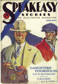 Pulps:Detective, Speakeasy Stories April-May (V1#1) (Good Story Magazine Co., 1931)Condition: GD/VG. The first issue of this rare pulp serie...