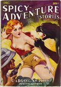 """Pulps:Adventure, Spicy-Adventure Stories Group (Culture, 1935). This select group contains four """"spicy"""" issues dated May 1935 (VG/FN), July 1... (Total: 4 Items)"""