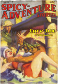 Pulps:Adventure, Spicy-Adventure Stories Group (Culture, 1938-39). The issues in this lot are dated September 1938 (FN/VF), January 1939 (VG/... (Total: 4 Items)