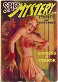 Pulps:Horror, Spicy Mystery Group (Culture, 1935-36). This impressive three-issuelot consists of the issues dated September 1935 (FN/VF),... (Total:3 Items)