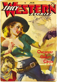 Spicy Western Stories Group (Culture, 1936-39). A nice group of high-grade Westerns with that famous spicy attitude. The...