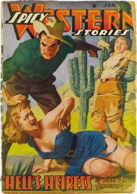 Spicy Western Stories Group (Culture, 1939-42) Condition: Average GD+. This large group has issues dated November 1939 (...