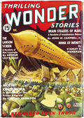 Pulps:Science Fiction, Thrilling Wonder Stories Group (Standard, 1936-55) Condition:Average FN-. This humongous group consists of issues dated Aug...(Total: 105 Items)