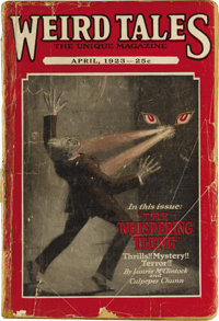 Weird Tales April 1923 (Popular Fiction, 1923) Condition: Apparent GD. The second issue of this seminal title, Bookery's...