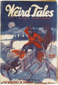 Weird Tales July 1925 (Popular Fiction, 1925) Condition: VG+. This key issue features the first published story by Rober...