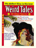 "Pulps:Science Fiction, Weird Tales November 1931 Cover Press Proof. Measures 8"" x 10 3/4"".In Excellent condition.From the John McLaughlin Collec..."