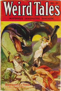 Weird Tales December 1932 (Popular Fiction, 1932) Condition: VG/FN. The first appearance of Robert E. Howard's Conan in...