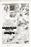 "Original Comic Art:Complete Story, Neal Adams - Vampirella #1 Complete 6-page Story ""Goddess From the Sea"" Original Art (Warren, 1969). Neal Adams dazzled Silv..."