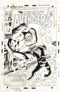 Original Comic Art:Covers, John Buscema and George Klein - Avengers #62 Cover Original Art(Marvel, 1969). The bravery of the Black Panther is spotligh...