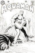 "Original Comic Art:Covers, Nick Cardy - Aquaman #37 Cover Original Art (DC, 1968). ""When theSea dies..."" This cover concept set the stage for a melodr..."