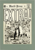 "Original Comic Art:Covers, Johnny Craig - Extra #5 Cover Original Art (EC, 1955). ""Better read than dead"" -- the life of an investigative reporter ofte..."