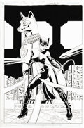 Original Comic Art:Covers, Paul Gulacy and Jimmy Palmiotti - Catwoman #31 Cover Original Art(DC, 2004). The self-proclaimed guardian of Gotham's East ...