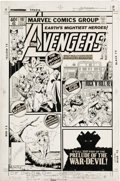 Original Comic Art:Covers, George Perez and Bob McLeod - The Avengers #197 Cover Original Art (Marvel, 1980). Drawn in tabloid style, this collage of i...
