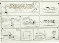 Original Comic Art:Comic Strip Art, Charles Schulz - Peanuts Sunday Comic Strip Original Art, dated 11-24-57 (United Features Syndicate, 1957). What avid Pean...