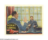 """The 39 Steps (Gaumont, 1935). Lobby Card (11"""" X 14""""). Robert Donat is caught in the middle of a murder investi..."""