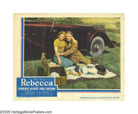 """Rebecca (United Artists, 1940). Lobby Card (11"""" X 14""""). This fantastic card from Alfred Hitchcock's """"Rebe..."""